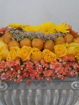 A Fusion Of Yellow Roses And Flowers